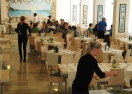 2012-04-06 der Speisesaal im Hotel Major-Cattolica